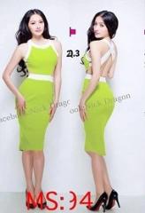 Đầm body dây chéo lưng Trương Nhi DV70